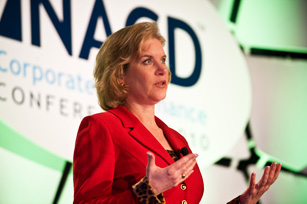 Susan Schwab, Former U.S. Trade Representative, Speaking at NACD Conference