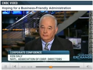 NACD president & CEO Ken Daly talks with CNBC about the NACD Board Confidence Index