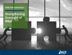 Director Essentials: Strengthening Oversight of M&A