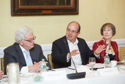 (Left to right) Robert Klatell, Steven Kreit, and Laurie Shahon